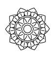 mandala motif floral decoration mystical vintage vector image vector image