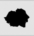 map romania isolated black vector image