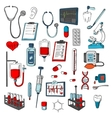 Medical equipment icons set vector image