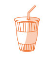 monocromatic soda cup design vector image vector image