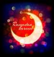 muslimred crescent on abstract background vector image vector image