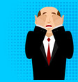 omg boss facepalm pop art oh my god businessman vector image vector image