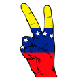 Peace Sign of the Venezuelan flag vector image vector image