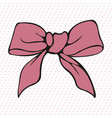 pink bow stylized element vector image