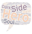 Psychology Of The Hero Soul text background vector image vector image