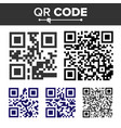 qr code set different types scanning vector image vector image