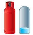 red butane gas cylinder vector image vector image