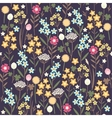 Seamless meadow flowers background vector image vector image