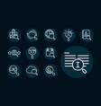 search icon set icons block and line pictogram vector image vector image