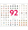 Set of 92 flat profession avatars Engineers and vector image