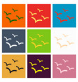 set of beautiful seagulls in a flat style vector image vector image