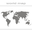 set of monochrome icons with world map vector image vector image