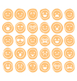 set of smiley icons isolated vector image vector image