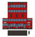 simple paper model a red double decker vector image