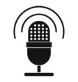 studio microphone icon simple style vector image vector image