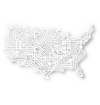 stylized usa map vector image vector image