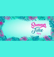 summer time banner tropical jungle plants vector image vector image