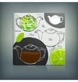 Tea Menu 02 A vector image vector image
