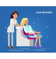 template for beauty saloon vector image vector image