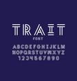 trait font alphabet letters vector image vector image