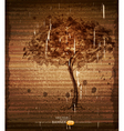 vintage background with tree vector image vector image
