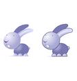 Violet rabbit vector image