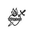 virgin marys heart icon vector image