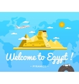 Welcome to Egypt poster with famous attraction vector image