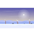 winter with snow scenery game background vector image