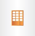 wooden door design element vector image vector image