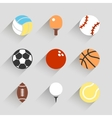 Sport balls icon set - white app buttons vector image