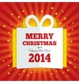 Christmas gift box cut the paper New year 2014 vector image