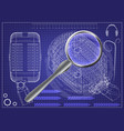 microphone and magnifier vector image