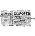 a new science for a new climate text word cloud vector image vector image