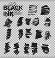 abstract background set of ink strokes vector image vector image