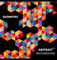 abstract colorful of geometric shapes with vector image