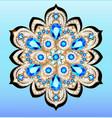 an a shiny pendant brooch with precious stones vector image vector image
