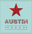 austin texas sign vector image vector image