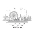 berlin skyline line art 9 vector image