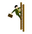 businessman climbing a ladder icon vector image