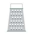Cheese kitchen grater metal handle utensil vector image vector image