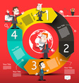 Circle Infographic Layout with Arrows and Business vector image
