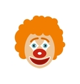 Clown face icon flat style vector image vector image
