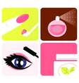 cosmetic and makeup icons vector image