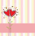 cute heart tree and sweet background vector image vector image