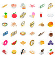 different food icons set isometric style vector image vector image