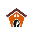 dog house logo concept icon vector image vector image