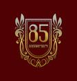 eighty fifth anniversary vintage logo symbol vector image