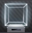 exhibition showcase hologram vector image