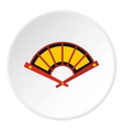 Fan icon flat style vector image vector image